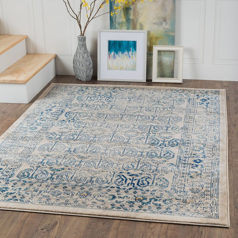 Aquila Creamblue Area Rug Reviews Joss Main
