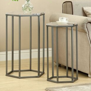 Bains 2 Piece Nesting Tables
