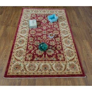 Dunanney Oriental Red/Ivory Area Rug