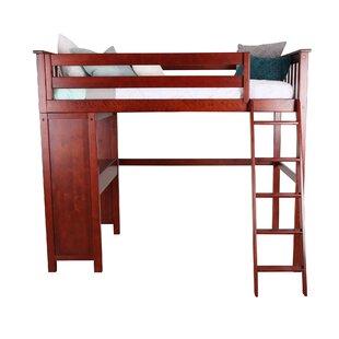 Solari Twin Loft Bed with Desk