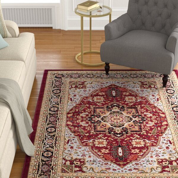 Charlton Home Ottis Oriental Red Black Area Rug Reviews Wayfair Ca