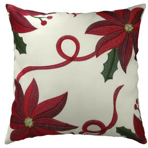 Bloomy Decorative Christmas Throw Pillow Cover