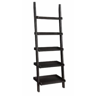 Winston Porter Holbert Sleek Wooden Ladder Bookcase