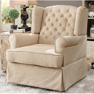 Maya Transitional 360 Degree Swivel and Rocker Mechanism Chair Glider by One Allium Way