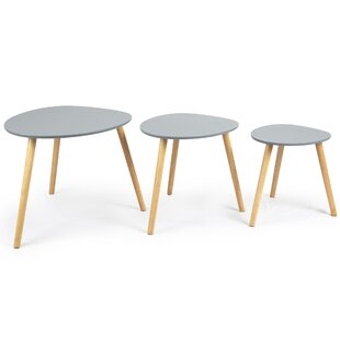 Whitney 3 Piece Coffee Table Set By Isabelline