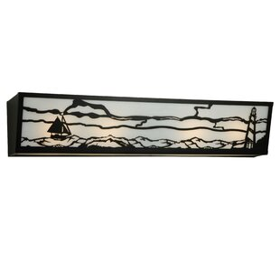Affordable Lighthouse with Sailboat 4-Light Bath Bar By Meyda Tiffany