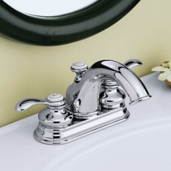 Fairfax Centerset Double Handle Bathroom Faucet With Drain Embly