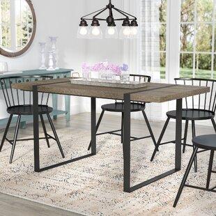 Madelyn Urban Blend Wood Dining Table by Laurel Foundry Modern Farmhouse