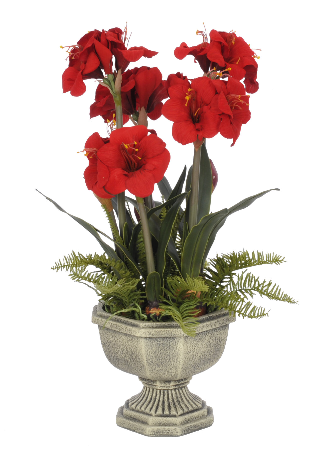 House Of Silk Flowers Artificial Amaryllis In Urn Wayfair