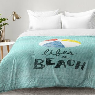 Lifes A Beach Comforter Set by East Urban Home