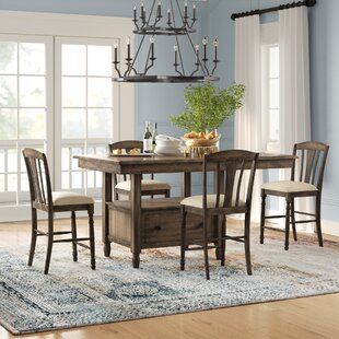 Perez 5 Piece Solid Wood Breakfast Nook Dining Set