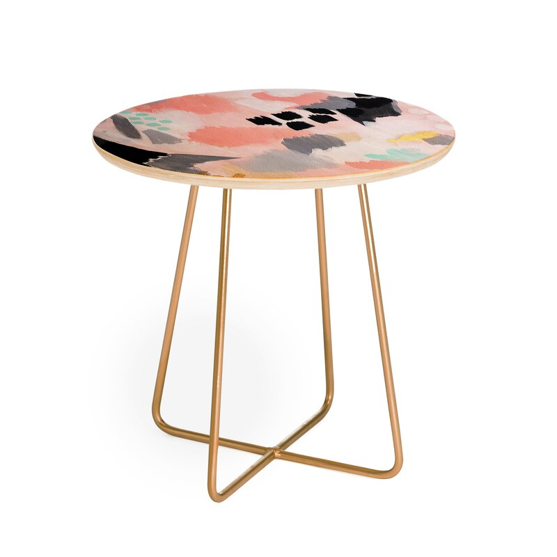 East Urban Home Laura Fedorowicz Serenity Abstract End Table Wayfair
