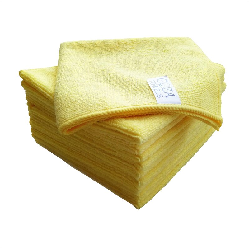 AG Gapital Goza 12 Pieces in Set Washcloth Towel Set  Finish: Yellow