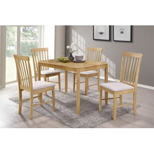 Adira Dining Set With 4 Chairs By Brambly Cottage