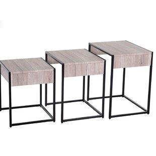 Pontius 3 Piece Nest Of Tables By Mercury Row