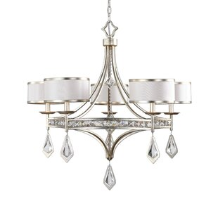 Willa Arlo Interiors Caravelle 5-Light Shaded Chandelier