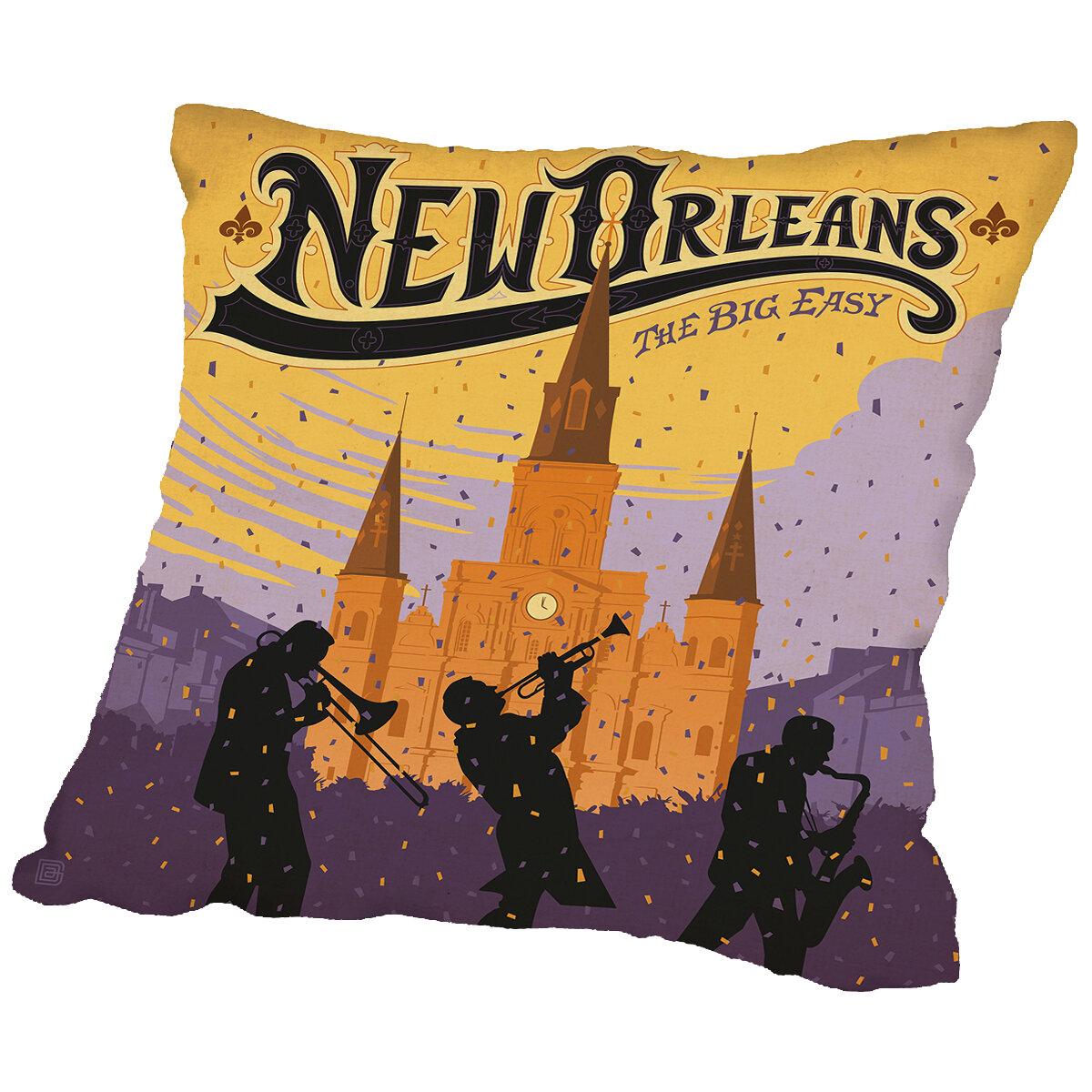 East Urban Home Neworleans Throw Pillow Wayfair