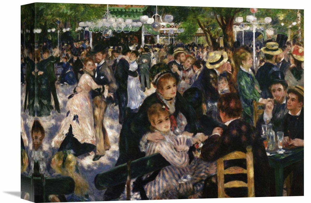 MUSEUM ART PRINT Bal du Moulin de la Galette detail Pierre Auguste Renoir