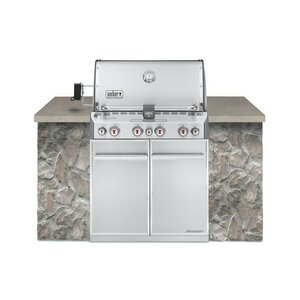 Summitu00ae S-460u0099 4-Burner Built-In Natural Gas Grill with Smoker