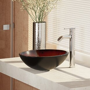 Searching for Glass Circular Vessel Bathroom Sink with Faucet By René By Elkay