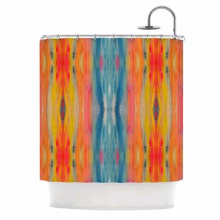 Low priced 'Boho Tie Dye' Shower Curtain ByEast Urban Home