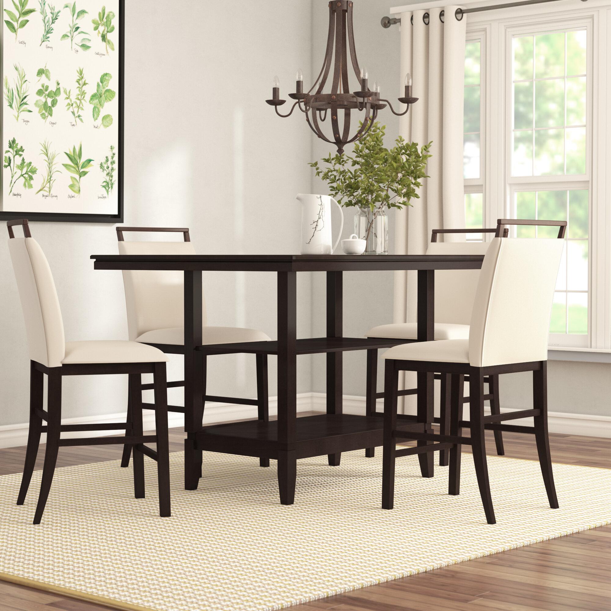 White Cane Outdoor Furniture, Gracie Oaks Tarra 5 Piece Counter Height Dining Set Reviews Wayfair