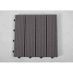 12 X Composite Interlocking Deck Tile In Gray