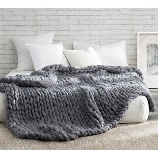 Pinkley Pure Australian Chunky Knit Wool Blanket