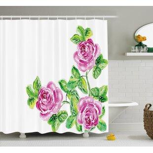 Menyauthe Flower House Decor Single Shower Curtain