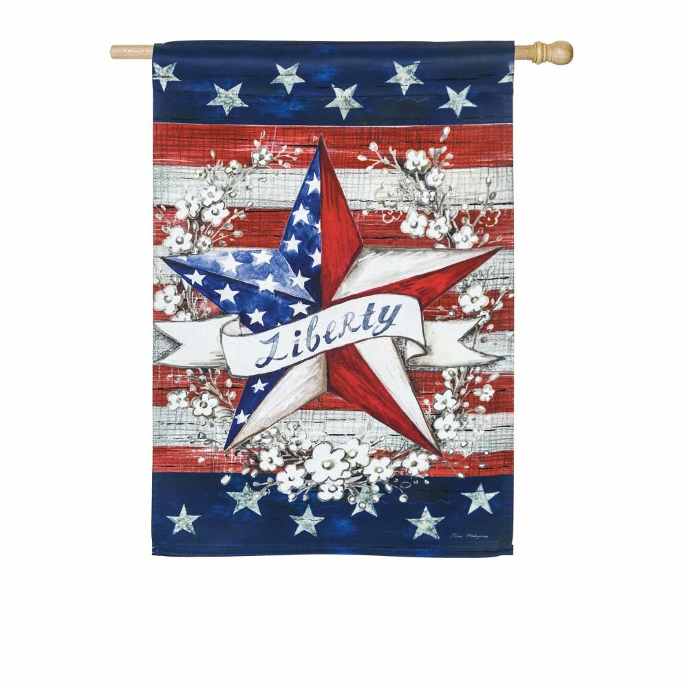 Evergreen Enterprises Inc Liberty Star 2 Sided Polyester 43 X 29 In House Flag Wayfair