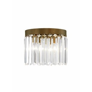House of Hampton Caroline 3-Light Crystal Flush Mount