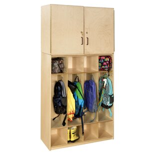 Contender 4 Tier 4 Wide Home Locker by Wood Designs