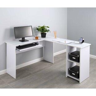 Symple Stuff Hanke Corner 2 Side Shelve L-Shape Computer Desk