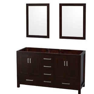 Sheffield 60 Double Bathroom Vanity Base by Wyndham Collection