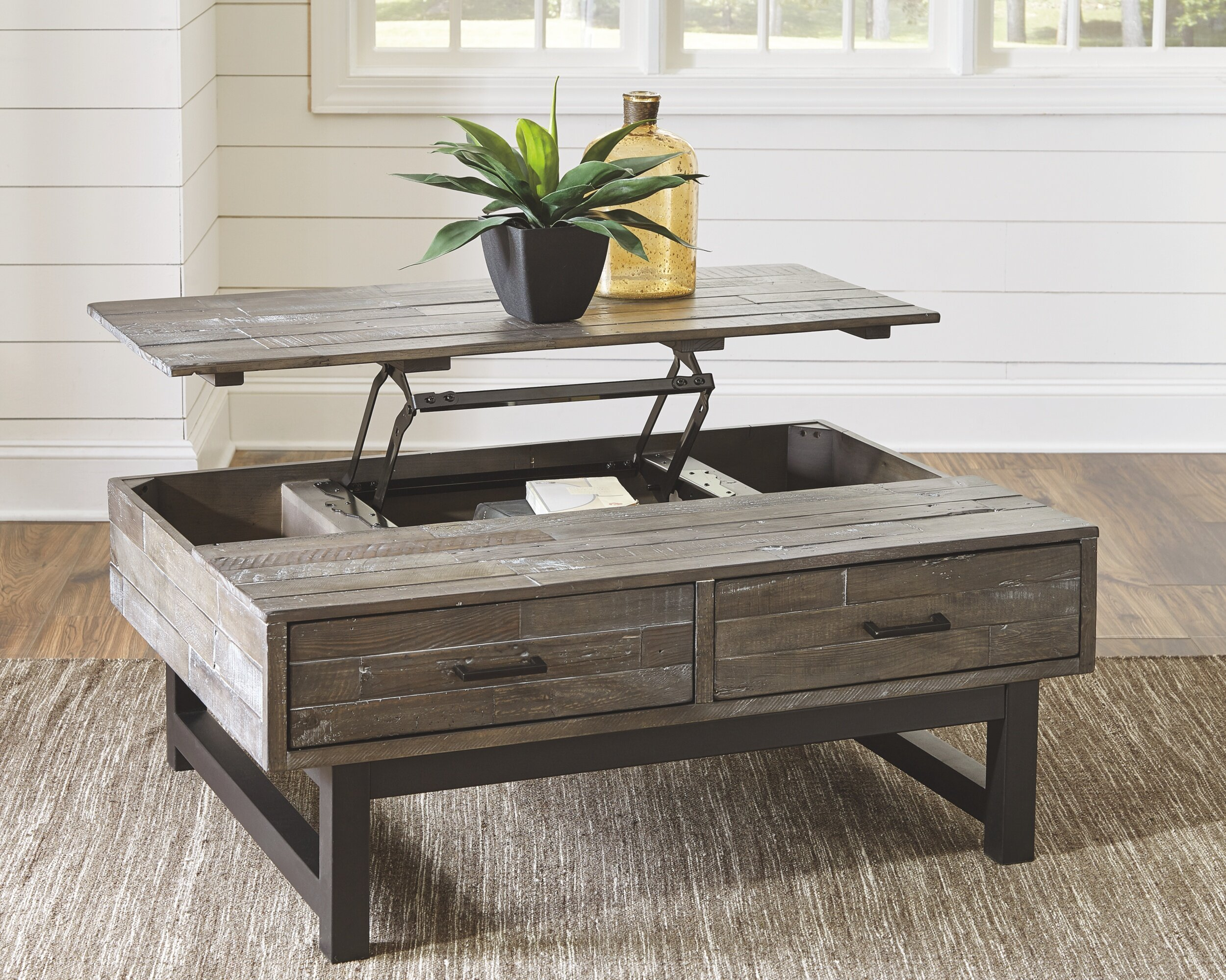 Lift Top Coffee Table Storage 11