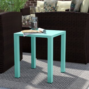 Affordable Fennia Outdoor Aluminum End Table By Wrought Studio