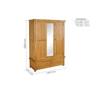 Antonio 3 Door Wardrobe By Gracie Oaks