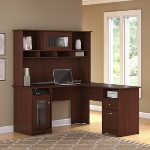 Hillsdale L-Shape Executive Desk with Hutch