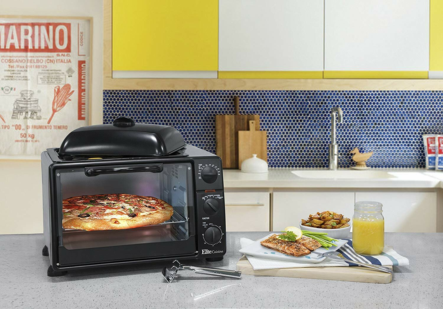 Elite by Maxi-Matic 0 8 Cu  Ft  Cuisine Toaster Oven with