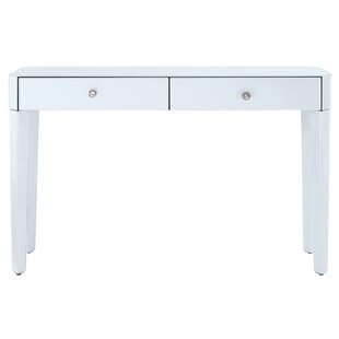 Thurston Reverse Painted Glass Console Table