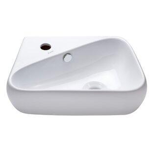 Compare & Buy Ceramic 18 Wall Mount Bathroom Sink By Elanti