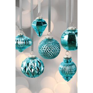 Mercury 6 Piece Ball Ornament Set