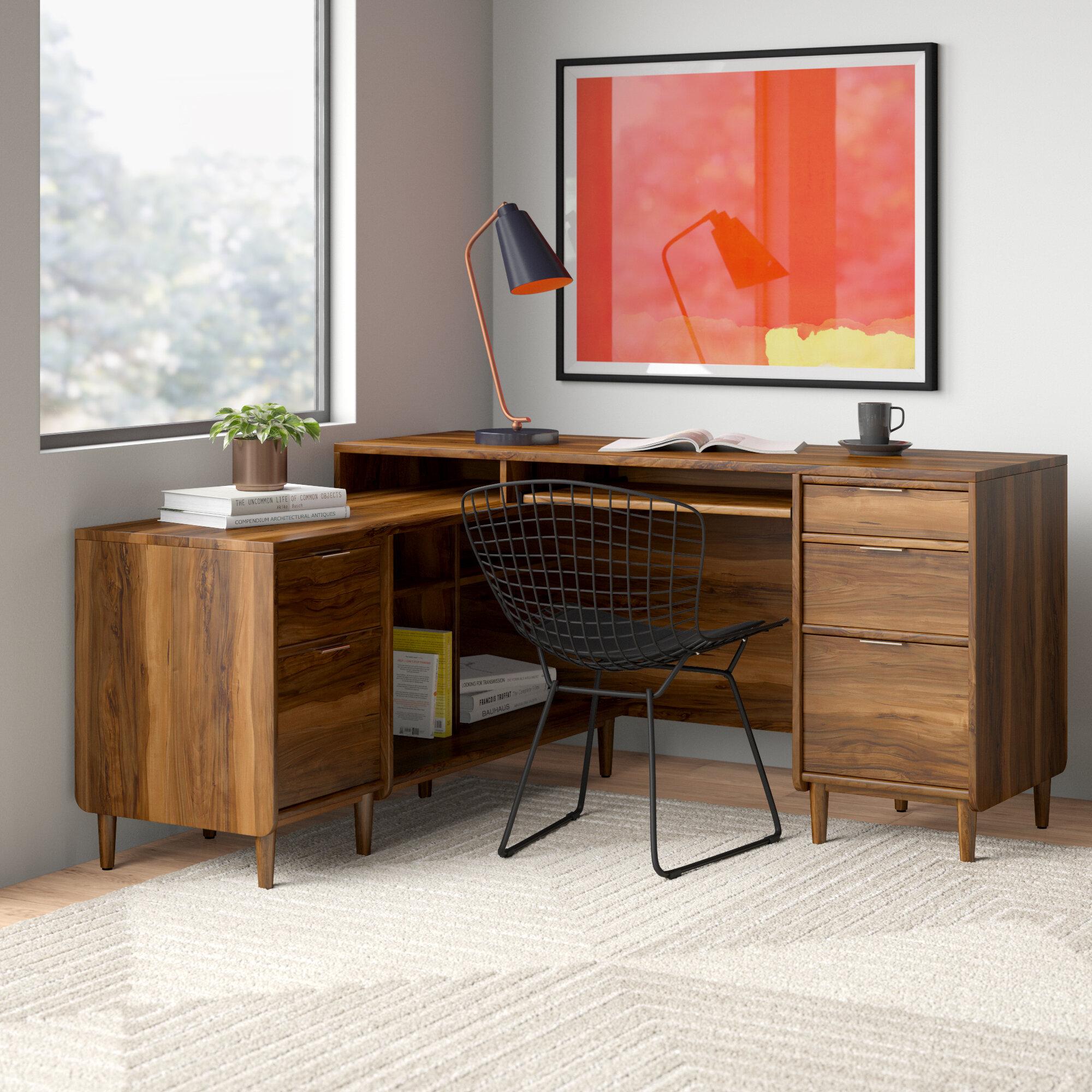 Stevens L Shape Executive Desk Reviews Allmodern