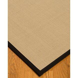 Best Vannatta Border Hand-Woven Wool Beige/Black Area Rug ByRed Barrel Studio