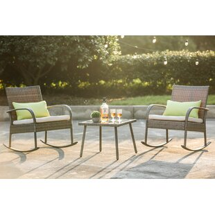 Exceptionnel 3 Piece Conversation Set With Cushions