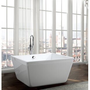 Compare Bologna 47.2 x 47.2 Freestanding Soaking Bathtub By Bellaterra Home