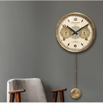 East Urban Home Oversized Walden Wall Clock Wayfair