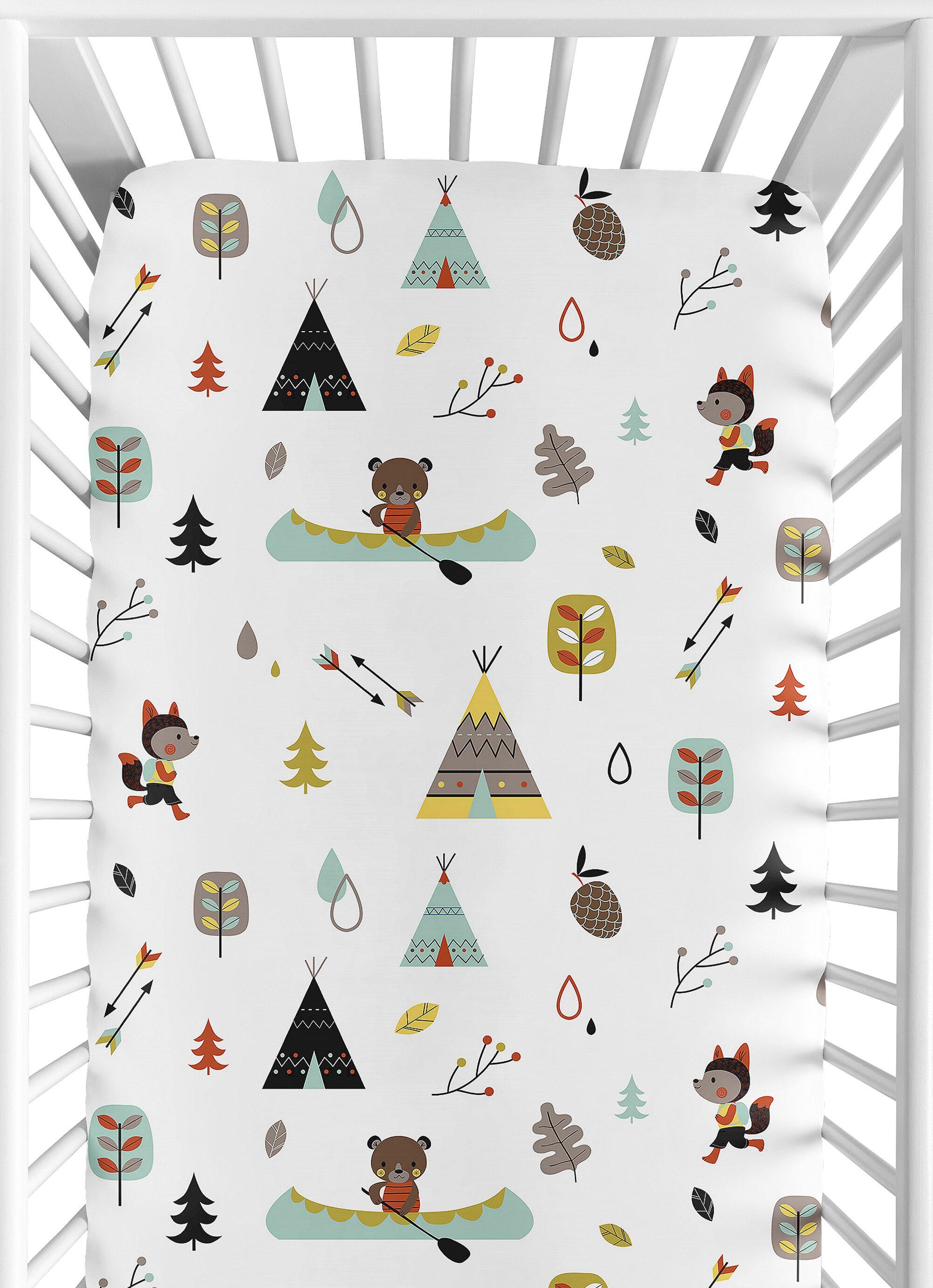 Sweet Jojo Designs Outdoor Adventure Fitted Crib Sheet Reviews Wayfair