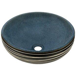 MR Direct Artisan Ceramic Circular Vessel Bathroom Sink