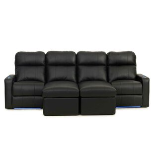 Red Barrel Studio Leather Home Theater Sectional
